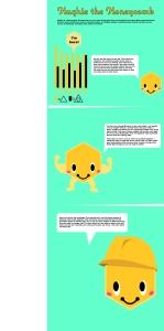 Infographic honeycomb